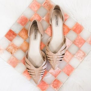 Steve Madden • Nude Pointed Toe D'Orsay Flats